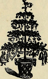 Christmas tree, from 'Rutherfurd's Southern Counties Register... being a supplement to the almanacs; containing […] much useful information connected with the counties of Roxburgh, Berwick and Selkirk' Published in Kelso, by J. and J.H. Rutherfurd, in 1858