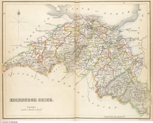 Lizars Map of the County of Edinburgh, published with the Second Account (vol 1)