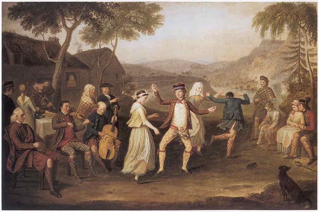 A painting entitled 'The Highland Wedding' by David Allan (Scottish painter 1744-1796), 1780.
