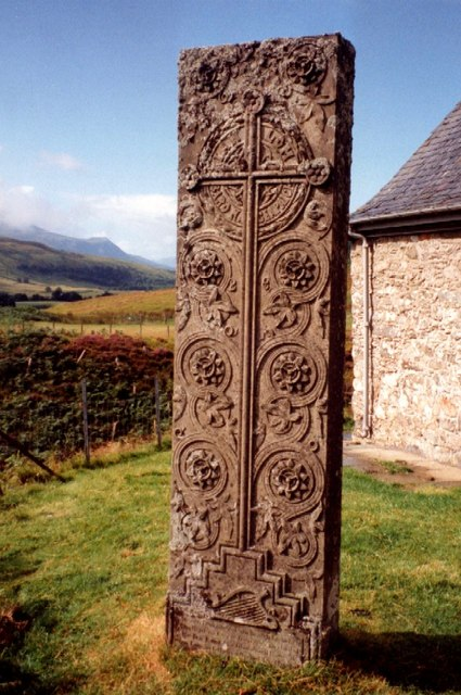 A photograph of Iain Lom's memorial at Cille Choirille kirkyard.