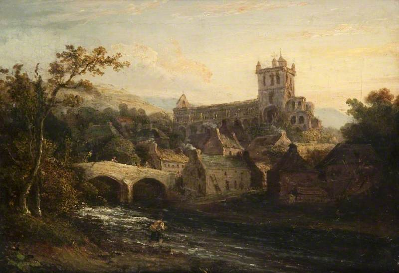 A painting of Jedburgh Abbey by an unknown artist. Glasgow Museums: http://www.artuk.org/artworks/jedburgh-abbey-86391