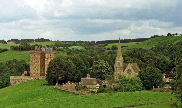 A photograph of Borthwick Church