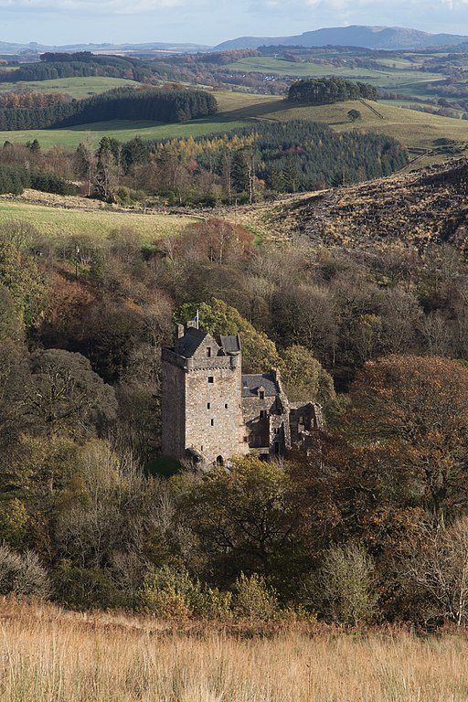 A photograph of Castle Campbell from the north east direction